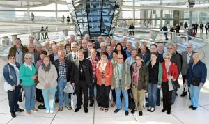 Rund 50 Mitglieder von Bruderschaften aus dem Kreisgebiet erlebten - hier in der Reichstagskuppel - informative Tage in Berlin. FOTO: privat