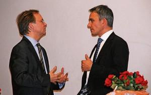 Staatssekretär Thomas Rachel (l.) und Bundestagsabgeordneter Wilfried Oellers prägten und prägen das Kreis Heinsberger Gesicht der CDU in Berlin. FOTO: RP